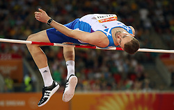 Scotland's David Smith in the Men's High Jump Final at the Carrara Stadium during day seven of the 2018 Commonwealth Games in the Gold Coast, Australia.
