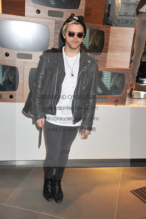 VINCE KIDD at an invitation-only acoustic performance by Rita Ora hosted by Calvin Klein Jeans at their Regent Street Store, London on 18th February 2013.