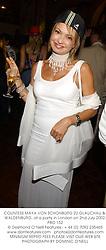 COUNTESS MAYA VON SCHONBURG ZU GLAUCHAU & WALDENBURG, at a party in London on 2nd July 2002.PBO 152