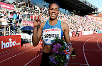 Friidrett ,  11. juni 2015 , Diamond League , Bislett Games , Oslo<br />  Atheltics<br /> <br /> Kalise Spencer , JAM<br /> 400 m hurdles<br /> 400 m hekk