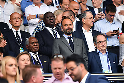 June 29, 2019 - Paris, ile de france, France - French Prime Minister, Edouard Philipe during the quarter-final between FRANCE vs USA in the 2019 women's football World cup at Parc des Princes in Paris, on the 28 June 2019. (Credit Image: © Julien Mattia/NurPhoto via ZUMA Press)