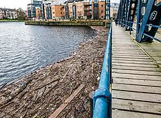 Water of Leith rubbish, Edinburgh, 5 December 2019