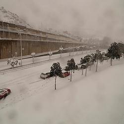 March 8, 2010 Barcelona Snowstorm.  8 de marzo 2010 Barcelona tormenta de nieve.