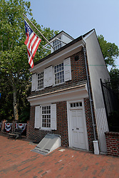 Betsy Ross house, exterior..Philadelphia, Pennsylvania, PA USA.  Photo copyright Lee Foster, 510-549-2202, lee@fostertravel.com, www.fostertravel.com.  Photo 272-30443