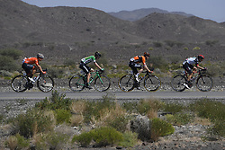 February 17, 2018 - Muscat, Oman - CARPENTER Robin of Rally Cycling, SCHULTZ Nick of Caja Rural - Seguros RGA, LIGTHART Pim of Roompot - Nederlandse Loterij, MARCATO Marco of UAE-Team Emirates during stage 5 of the 9th edition of the 2018 Tour of Oman cycling race, a stage of 152 kms between Sama'il and Jabal Al Akhdhar (Green Mountain) on February 17, 2018 in Muscat, Sultanate Of Oman, 17/02/2018 (Credit Image: © Panoramic via ZUMA Press)