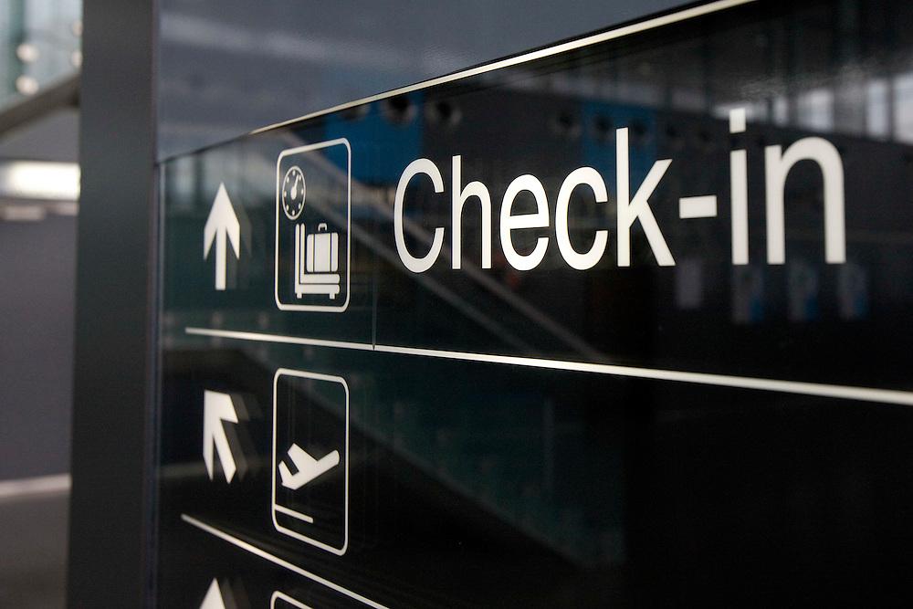 Liege - Belgium - September 2009 - Liège airport - Airport  Signs  © Patrick Mascart / Scorpix / fotogloria