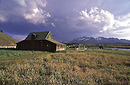 Old barn near the banks of the Salmon River near Stanley, Idaho