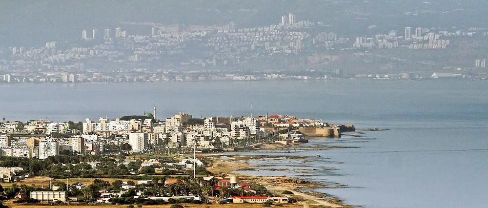Aerial view of Acre, Galilee, Israel