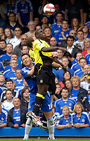 Photo: Daniel Hambury.<br />Chelsea v Manchester City. The Barclays Premiership. 20/08/2006.<br />Chelsea's John Terry and City's Micah Richards compete for the ball.