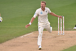 March 26, 2018 - Auckland, Auckland, New Zealand - Neil Wagner of Blackcaps reacts during Day Five of the First Test match between New Zealand and England at Eden Park in Auckland on Mar 26, 2018. (Credit Image: © Shirley Kwok/Pacific Press via ZUMA Wire)