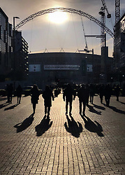 9 December 2017 -  Premier League - Tottenham Hotspur v Stoke City - Fans on-route to Wembley in the early afternoon sunshine - Photo: Marc Atkins/Offside