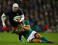 Rugby Union - 2017 Guinness Series (Autumn Internationals) - Ireland vs. Argentina<br /> <br /> Argentina's Juan Manuel Leguizamon is tackled by Ireland's Adam Byrne, at the Aviva Stadium.<br /> <br /> COLORSPORT/KEN SUTTON