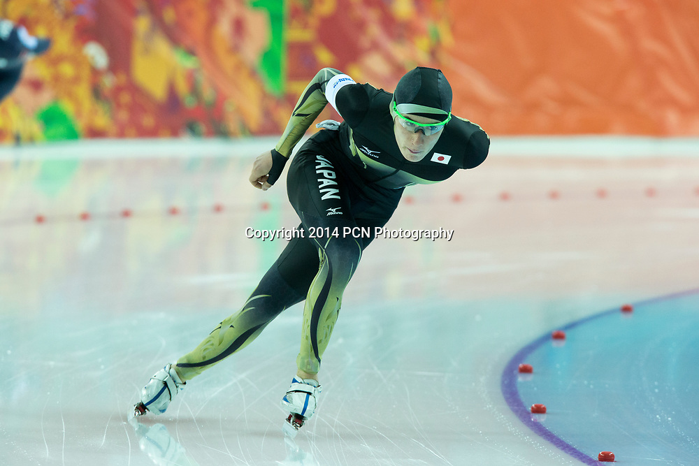 Shane Williamson (JPN) competing in Men's 5000m Speed Skating at the Olympic Winter Games, Sochi 2014