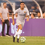 MEADOWLANDS, NEW JERSEY- August 7:  Justin Kluivert          #34 of AS Roma in action during the Real Madrid vs AS Roma International Champions Cup match at MetLife Stadium on August 7, 2018 in Meadowlands, New Jersey. (Photo by Tim Clayton/Corbis via Getty Images)