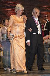Catharina Lindqvist, Yoshinori Ohsumi <br /> <br />  <br /> <br />  beim Nobelbankett 2016 im Rathaus in Stockholm / 101216 <br /> <br /> <br /> <br /> ***The Nobel banquet, Stockholm City Hall, December 10th, 2016***