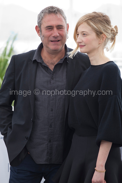 Actress Alba Rohrwacher and actor Actor Sergi Lopez at the Happy As Lazzaro (Lazzaro Felice) film photo call at the 71st Cannes Film Festival, Monday 14th May 2018, Cannes, France. Photo credit: Doreen Kennedy