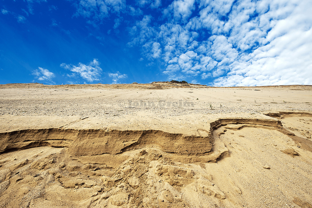 Huge sand dune cliffs at Long Nook Beach, Cape Cod National Seashore, Truro, Cape Cod, Massachusetts, USA