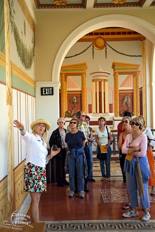 The Getty Villa, Outer Peristyle, Tour Guide, Malibu, California