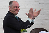 Louisiana Gov. John Bell Edwards in St. Jospeh, a Delta town, for a  ground breaking ceremony for St. Joseph's new water system on March 6, 2017.   Gov. Edwards made an emergency health proclamation on December 16, 2016, enabling a fast-tracked replacement of St. Joseph's water system after lead was found in the water.