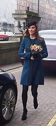 The Duchess of Cambridge leaving Baker Street tube station in London, after a visit as part of the London Underground's 150th anniversary, Wednesday, 20th March 2013. Photo by Max Nash / i-Images...