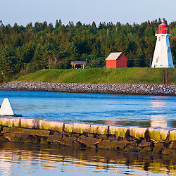 Mulholland Point Light on Campobello Island in New Brunswick as seen from Lubec, Maine.