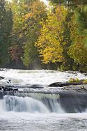 64797-00601 Bond Falls in fall, Ontonagon County, MI