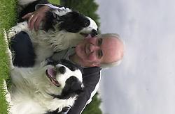 Eddie Sander with his Dogs Jackson and Inka<br /><br />18 June 2004<br /><br />Copyright Paul David Drabble<br /> [#Beginning of Shooting Data Section]<br />Nikon D1 <br /> Focal Length: 80mm<br /> Optimize Image: <br /> Color Mode: <br /> Noise Reduction: <br /> 2004/06/18 09:42:46.1<br /> Exposure Mode: Manual<br /> White Balance: Auto<br /> Tone Comp: Normal<br /> JPEG (8-bit) Fine<br /> Metering Mode: Center-Weighted<br /> AF Mode: AF-S<br /> Hue Adjustment: <br /> Image Size:  2000 x 1312<br /> 1/200 sec - F/7.1<br /> Flash Sync Mode: Front Curtain<br /> Saturation: <br /> Color<br /> Exposure Comp.: 0 EV<br /> Auto Flash Mode: External<br /> Sharpening: Normal<br /> Lens: 80-200mm F/2.8<br /> Sensitivity: ISO 200<br /> Image Comment: <br /> [#End of Shooting Data Section]