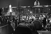 DANCING IN TRAFALGAR SQ. , Extinction Rebellion protests. Westminster, London. 9 October 2019