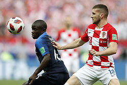 (l-r) Ngolo Kante of France, Nabil Fekir of France during the 2018 FIFA World Cup Russia Final match between France and Croatia at the Luzhniki Stadium on July 15, 2018 in Moscow, Russia