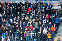 South stand at the end. <br /> Falkirk 1 v 0 Morton, Scottish Championship game  played 1/5/2016 at The Falkirk Stadium.