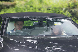 © Licensed to London News Pictures. 25/05/2016. Peckforton UK. Picture shows guests arriving at Peckforton castle for the wedding of  Leicester city footballer Jamie Vardy is to mary Becky Nicholson today at Peckforton Castle in Cheshire today. Photo credit: Andrew McCaren/LNP