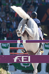 Katharina Offel, (UKR), Charlie - First Round Team Competition Jumping Speed - Alltech FEI World Equestrian Games™ 2014 - Normandy, France.<br /> © Hippo Foto Team - Leanjo De Koster<br /> 03-09-14