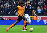 Dominic Iorfa on the attack during the Sky Bet Championship match between Wolverhampton Wanderers and Millwall at Molineux, Wolverhampton, England on 2 May 2015. Photo by Alan Franklin.