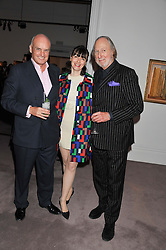 Left to right, NICHOLAS & GEORGIA COLERIDGE and ED VICTOR at a party to celebrate the publication of Can We Still Be Friends by Alexandra Shulman held at Sotheby's, 34-35 New Bond street, London on 28th March 2012.