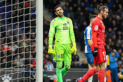 January 27, 2019 - Barcelona, BARCELONA, Spain - Diego Lopez of Espanyol in action during La Liga Spanish championship, , football match between Espanyol and Real Madrid,  January 27th, in RCDE Stadium in Barcelona, Spain. (Credit Image: © AFP7 via ZUMA Wire)