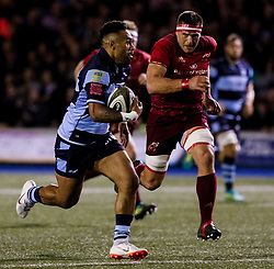 Willis Halaholo of Cardiff Blues<br /> <br /> Photographer Simon King/Replay Images<br /> <br /> Guinness PRO14 Round 4 - Cardiff Blues v Munster - Friday 21st September 2018 - Cardiff Arms Park - Cardiff<br /> <br /> World Copyright © Replay Images . All rights reserved. info@replayimages.co.uk - http://replayimages.co.uk