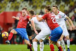 November 15, 2018 - Gdansk, Poland, TOMAS KALAS from Czech Republic (L) and JAN BEDNAREK from Poland (R) during football friendly match between Poland - Czech Republic at the Stadion Energa in Gdansk, Poland