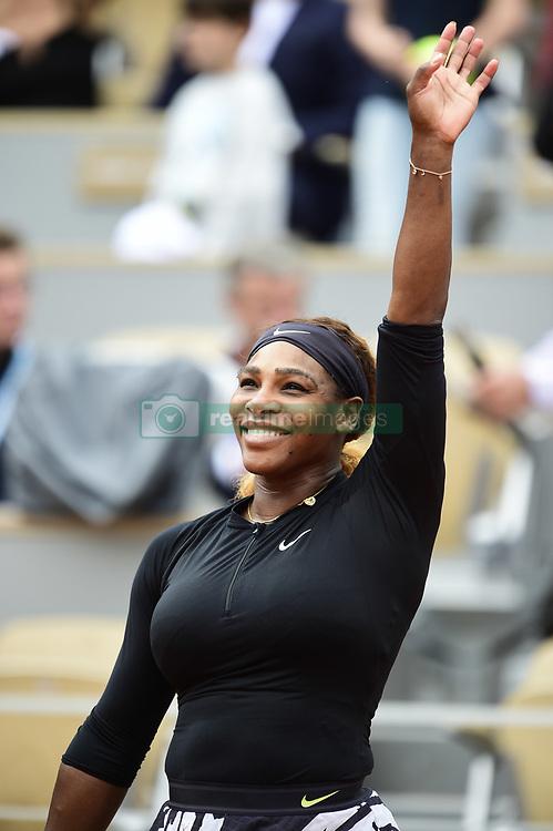 May 30, 2019 - Paris, France, FRANCE - joie de Serena Williams  (Credit Image: © Panoramic via ZUMA Press)