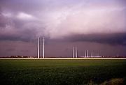 Thunderclouds at Dutch landscape