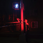 Police investigate a shooting at Emmons Avenue and Shore Parkway in Brooklyn, New York in the early morning on Sunday, July 12, 2020. John Taggart for The New York Times