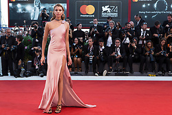 """Stella Maxwell arriving to the premiere of """"Mother"""" as part of the 74th Venice International Film Festival (Mostra) in Venice, Italy on September 5, 2017. Photo by Marco Piovanotto/ABACAPRESS.COM"""