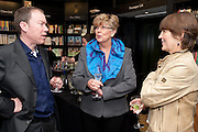 KAI PETERS; PRUE LEITH; CAROLINE WALDEGRAVE, Relish: My Life on a Plate by Prue Leith. Hatchards. Piccadilly, London. 14 March 2012.