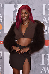 February 20, 2019 - London, United Kingdom of Great Britain and Northern Ireland - Leomie Anderson arriving at The BRIT Awards 2019 at The O2 Arena on February 20, 2019 in London, England  (Credit Image: © Famous/Ace Pictures via ZUMA Press)