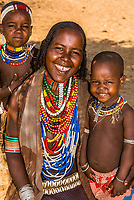 Arbore tribe mother and daughter, Omo Valley, Ethiopia.