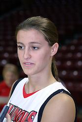 15 October 2008: Kristi Cirone at Illinois State University Women's Basketball Media Day inside Redbird Arena in Normal Illinois.
