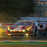 #51, AF Corse, Ferrari 488 GTE, driven by: James Calado, Alessandro Pier Guidi, Michele Rugolo, 24 Heures Du Mans 85th Edition, 18/06/2017,