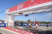 Foto Alfredo Falcone / LaPresse<br /> 17 Ottobre 2021 Roma, Italia<br /> Sport Atletica<br /> 46° RomaOstia Half Marathon<br /> Nella foto:  un momento della gara<br /> <br /> Photo Alfredo Falcone / LaPresse<br /> October 17, 2021 Rome, Italy<br /> Sport Athletics<br /> 46° RomaOstia Half Marathon<br /> In the pic: a moment of race