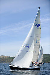The Clyde Cruising Club's Scottish Series held on Loch Fyne by Tarbert. Day 2 racing in a perfect southerly.. 1302C, Lyrebird, Clive Reeves,