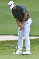July 15, 2018 - Silvis, Illinois, U.S. - SILVIS, IL - JULY 15:  Matt Atkins putts on the #1 green during the final round of the John Deere Classic on July 15, 2018, at TPC Deere Run, Silvis, IL.  (Photo by Keith Gillett/Icon Sportswire) (Credit Image: © Keith Gillett/Icon SMI via ZUMA Press)