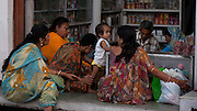 Women and Children shopping - Udaipur India 2011